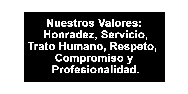 Valores. Funeraria La Soledad de Benavente